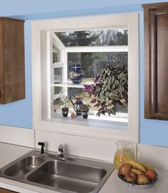 Print Of How To Decorate Garden Windows For Kitchens So That The Look Charming And