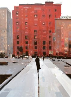 Flat Iron District - 48x36, oil on panel, Gallery ID# 15022 Geoffrey Johnson at Principle Gallery
