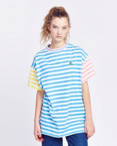 Lazy Oaf Frog Stripe T-shirt - View all - NEW IN - Womens