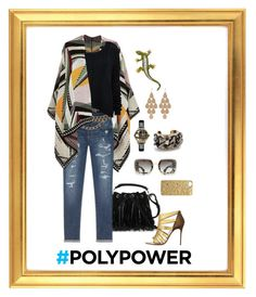 """""""LAYED BACK LOOK YIELDS SUPER POWER!"""" by hrhjustcuz ❤ liked on Polyvore featuring Yves Saint Laurent, River Island, Amethyst Jeans, Christian Louboutin, Chanel, Alice + Olivia, Marc by Marc Jacobs, Vivienne Westwood, Irene Neuwirth and Pluma"""