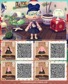 animal crossing new leaf qr code Animal Crossing Memes, Animal Crossing Qr Codes Clothes, Oktoberfest Outfit, Winter Looks, Rosa Pullover, Film Manga, Motif Acnl, Ac New Leaf, Happy Home Designer