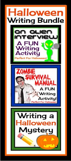 This is a bundle of my Halloween creative writing resources. Spend the month of October working on creative writing pieces, and by Halloween you will have lots of spooky stories to display/share. #halloween #lessons #English #teaching