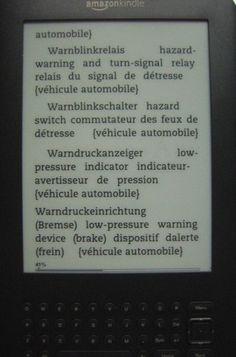 german english french technical dictionary automobile engineering - technische woerterbuecher deutsch-englisch und Lexika Mechatronik ebooks fuer amazon kindle reader