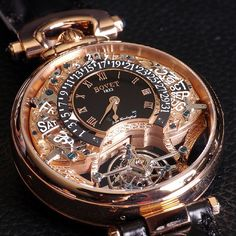 BOVET …Its movement, elaborately named the Calibre Virtuoso III Spécialité Horlogère Dimier 1738, is manually-wound and comprises 656 components. The 46mm watch comes in red or white gold and is limited to just 39 pieces for each version ($498,000 in rose gold).