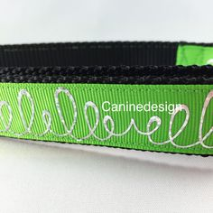 I think this is my new favorite. It's such a bright green! Looks great on any color dog.