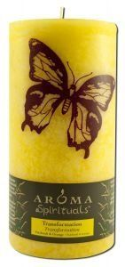 "Aroma Naturals Candle Pillars Trns Btrfly 3X6 Ct by Aroma Naturals. $18.40. Null. AROMA Spirituals Transformation Patchouli & Orange 3"" X 6"" PILLAR CANDLE Aroma Spirituals is inspired by age-old principles found in ancient cultures. Our candles are handcrafted with food-grade ingredients, featuring warming aromas and beautifully stenciled designs that embody love, peace, prosperity and happiness. All Aroma products are eco-friendly, cruelty free and lovingly handcrafted in..."