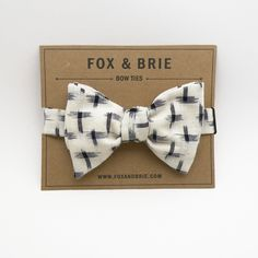 navy ikat bow tie.