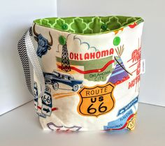 Project Bag, Knitting Bag, Knitting Project Bag, Sock Project Bag, Wedge Project Bag, Yarn Bowl, Knitting Tote Bag, Crochet Tote Bag by QuiltKnitCraft on Etsy https://www.etsy.com/listing/290531503/project-bag-knitting-bag-knitting