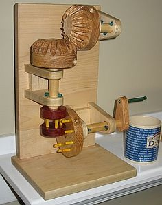 combination grist mill and bevel wood gear model