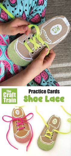 Recycle scrap cardboard intp shoe lace practice cards for kids. This will help them gain the confidence and skills to tie their own shoelaces – a big step! #shoalace #busyboard #learningactivities #recycledcrafts #kidsactivities #kidscrafts Easy Crafts For Kids, Diy For Kids, Help Kids, Fun Crafts, Toddler Sunday School, How To Tie Shoes, Do It Yourself Organization, Lacing Cards, Tie Shoelaces