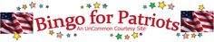 my website filled with patriotic bingo games and bingo games about American History