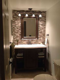 Small Bath Ideas Love The Large Mirror Over The Sink And Toliet Home Decor Pinterest Bath
