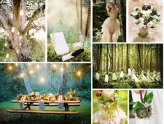 Lord of the Rings Wedding Inspiration also could be used as a fantasy, elf, forest wedding