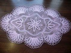 Doily Rug, Lace Doilies, Crochet Doilies, Crochet Flowers, Tunisian Crochet, Crochet Motif, Crochet Stitches, Knit Crochet, Knitting Videos