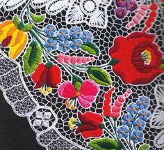 Hungary kalocsa lace embroidery