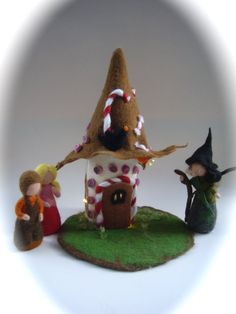 Hansel and GretelWitch.Fairy tale by FilzArts on Etsy