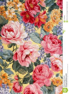 Floral Fabric 01 - Download From Over 49 Million High Quality Stock Photos, Images, Vectors. Sign up for FREE today. Image: 17946786