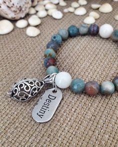 Earthtone Agate Beaded Diffuser Bracelet by SimplyQuinns on Etsy