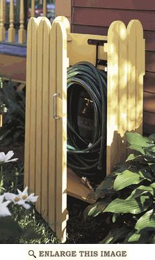 Garden hose hider - Plan is $2.75 but should be free considering how easy to make it is.