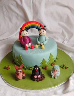 Kiskukta torta: Kisvakond és barátai meg Bogyó és Babóca Cake Decorating, Decorating Ideas, Birthday Cake, Cakes, Desserts, Kids, Baby, Food, Tailgate Desserts