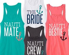Brides Crew Tank Top, First Mate Tank Top, Bridal Party Tank Top Bachelorette Tank Top Shirt Nautical Theme by BridalRave