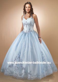 Hell Blaues Sissi Kleid Ballkleid Brautkleid