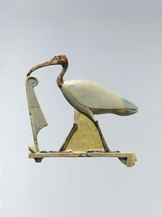 Inlay depicting Thoth as the ibis with a maat feather, 4th c. BC