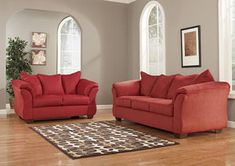 ashley furniture, darcy-salsa, living spaces, sofa and loveseat Sofa Furniture, Living Room Furniture, Furniture Sets, Furniture Outlet, Furniture Stores, Red Living Room Set, Sofa And Loveseat Set, Furniture Factory, Affordable Furniture