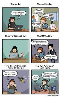 Everyday types of coders