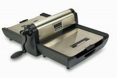 The Ellison roll model die cutting machine comes with an ergonomic handle, adapted pad so you can cut with AllStar dies and other brand's steel-rule dies. Die Cut Machines, Embossed Paper, Die Cutting, Card Making, Handle, Scrapbooking, Steel, Scrapbooks, Memory Books