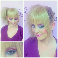 80's makeup by @Bella Chola Inc.