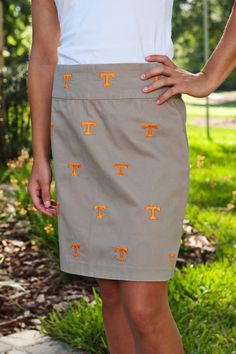Tennessee Khaki Skirts - Women