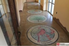 Decorative Concrete Council award winner - Creative Construction by Design polished this concrete floor at the Kennekuk County Park Environmental Center in Danville, Illinois