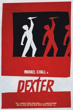 Dexter (2006–2013)  ~ Minimal TV Poster by Lionel Rousseau