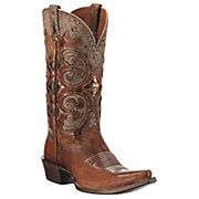 Ariat® Amora™ Ladies Shattered Copper Brown w/ Tan Inlay Snip Toe Western Boots