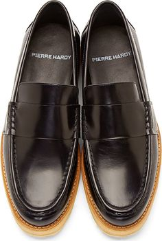 A Style To Swoon Over: Pierre Hardy Navy Leather Penny #Loafers ~ #SHOEOGRAPHY #mensshoes #mensstyle