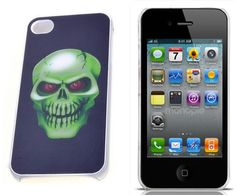 Skull Hard Protector Apple iPhone 4S Case - USD $ 5.9