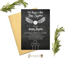 Harry Potter Baby Shower Invitation Muggle to Mom Chalkboard Invites Digital File or Prints with Free Shipping Sci-fi Muggle to Mom by SweetTeaAndACactus on Etsy https://www.etsy.com/listing/482624125/harry-potter-baby-shower-invitation