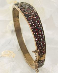Victorian garnet bangle  I have this bracelet, a gift from my mother in law on my engagement to her son! Just beautiful!