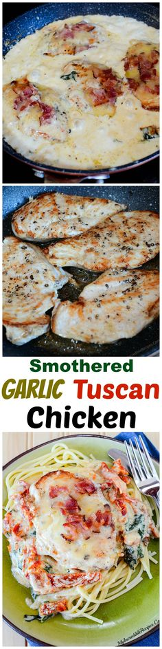 Smothered Tuscan Garlic Chicken!