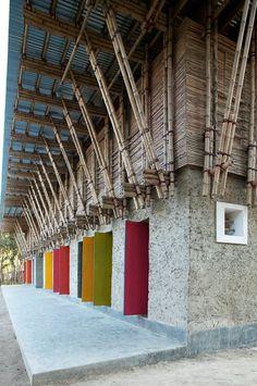 METI School handmade, Rudrapur, 2005 - Ziegert   Roswag   Seiler Architekten Ingenieure, Anna Heringer