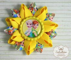 Hey, I found this really awesome Etsy listing at https://www.etsy.com/il-en/listing/286182881/frozen-fever-hair-bow-yellow-hair-clips