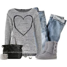 """Heart Sweater"" by cindycook10 on Polyvore"