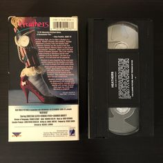 Heathers (1988) VHS tape, back cover