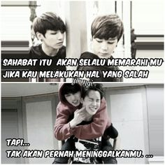 meme comik BTS part II (vkook/Taekook, namjin, yoonmin, jhope (? Bts Quotes, Qoutes, Memes Funny Faces, Quotes Indonesia, Kpop, Yoonmin, Read News, Bts Wallpaper, Islamic Quotes