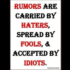 This is true! HATERS GOIN TO BE HATERS
