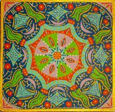 Mandala VI. Acrílico sobre tabla  19x19cm  25€