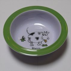 Picnic Zoo Animali Cereal Bowl. Heavy duty Melamine  with Italian pattern and perfect for kids!