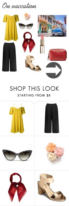 """""""On vacation"""" by inez-cph on Polyvore featuring Essentiel, Gucci, A2 by Aerosoles, ootd and women"""