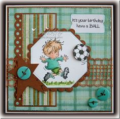 Boy the weeks sure are whizzing by aren't they! It's Lili of the Valley challenge day today and also I am Cute Card Thursday challenge's. Boy Cards, Kids Cards, Cute Cards, Men's Cards, Masculine Birthday Cards, Masculine Cards, Birthday Cards For Men, Birthday Images, How To Make Greetings